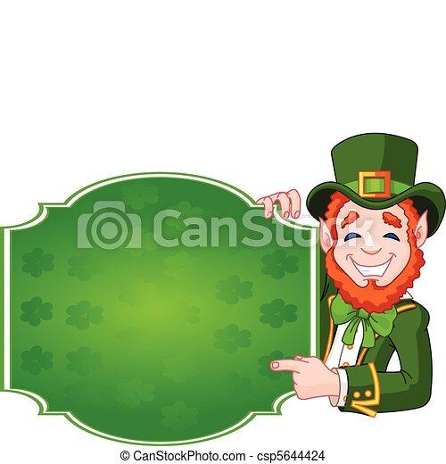 St. Patrick's Day Lucky Leprechaun - csp5644424