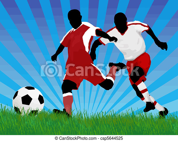 Soccer players - csp5644525