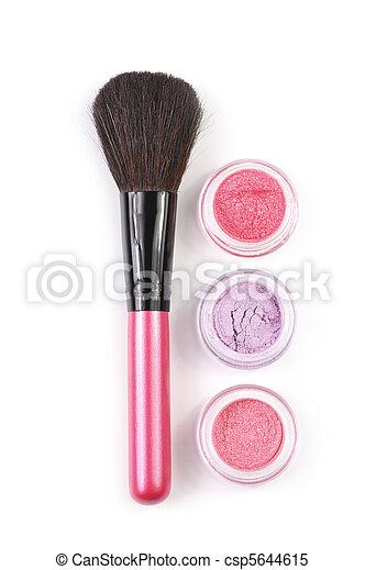 Make-up brush and eye shadows - csp5644615