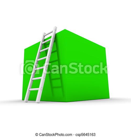 Climb up the Shiny Green Box - csp5645163