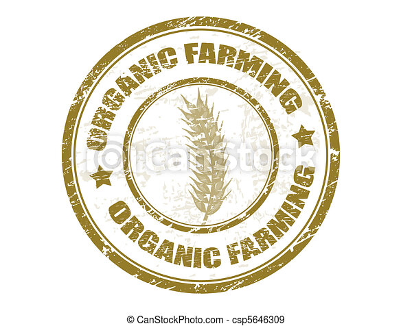 organic farming stamp - csp5646309