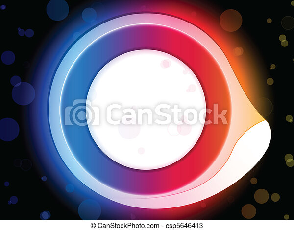 Rainbow Circle Border with Sparkles and Swirls. - csp5646413