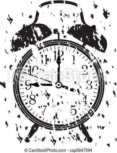 retro alarm clock - csp5647094