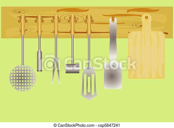 Kitchen utensils.  - csp5647241
