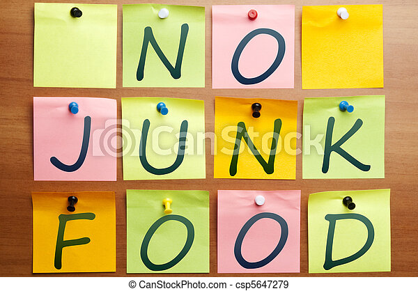 No junk food - csp5647279