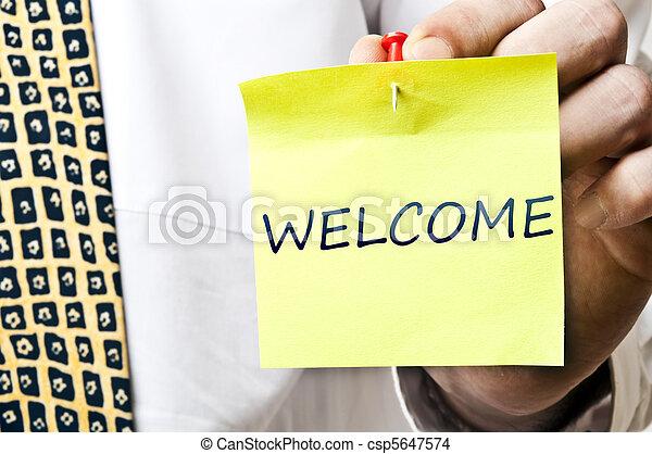 Welcome notice - csp5647574