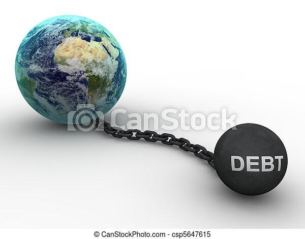 Debt concept - csp5647615