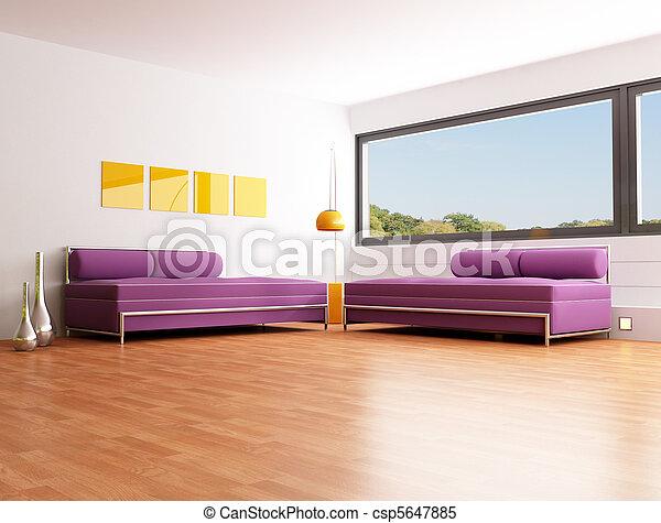 contemporary bright lounge - csp5647885