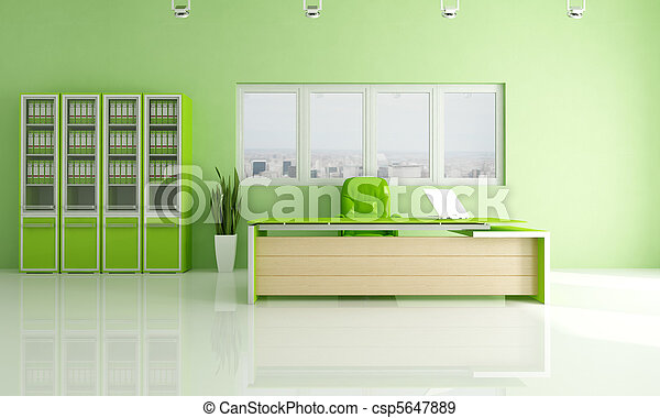 green modern office - csp5647889