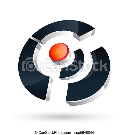 stylish vector logo - csp5648044