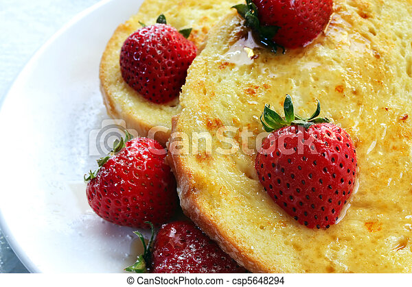 French Toast with Strawberries - csp5648294