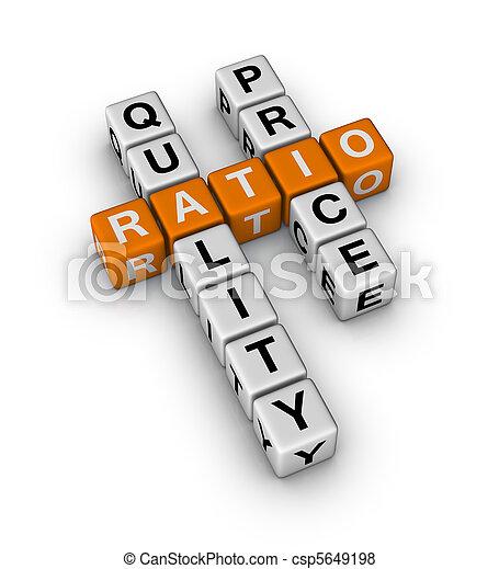 Quality and Price Ratio - csp5649198