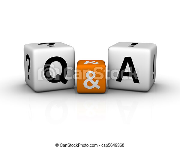 Question and Answers cubes symbol - csp5649368