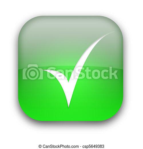 Tick button - csp5649383