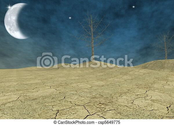 fantasy desert - digital artwork - csp5649775