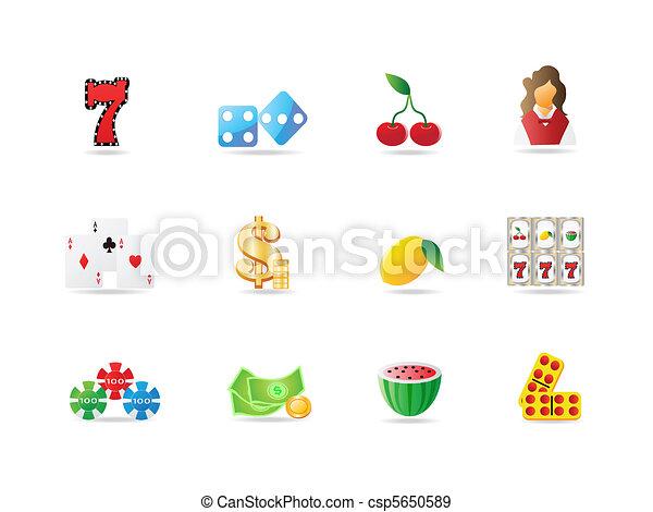 gambling icon  - csp5650589