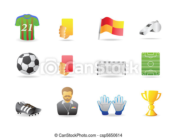 soccer icons - csp5650614