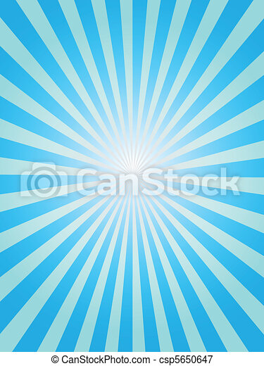 Blue sunray background - csp5650647