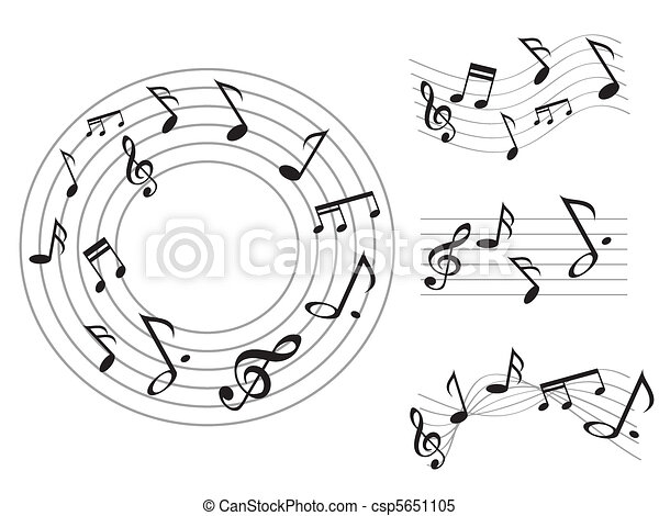 Music note - csp5651105