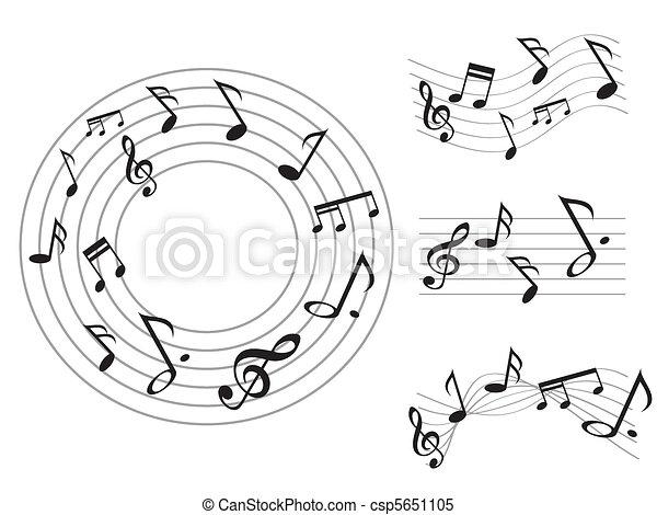 Music note - csp5651105