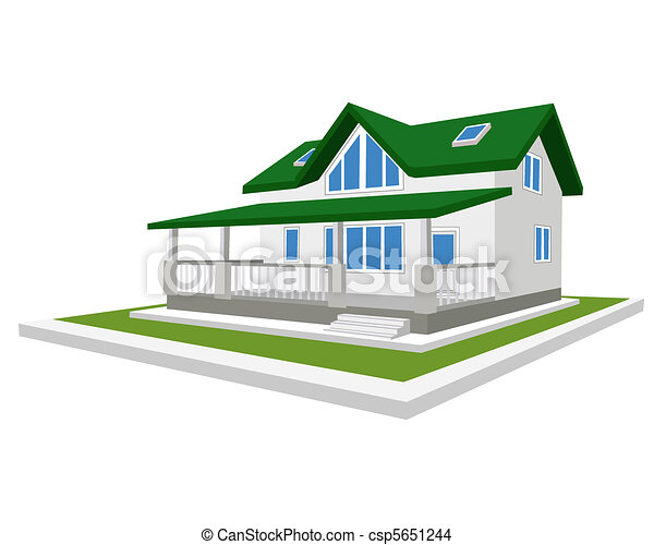 Model of a cottage - csp5651244