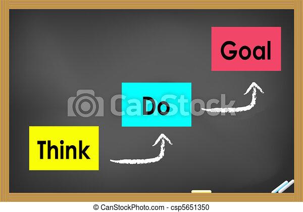 reaching goal concept  - csp5651350