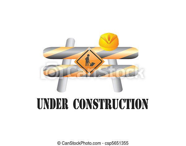 Under construction sign - csp5651355