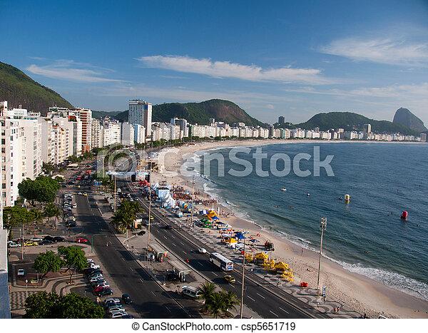 Copacabana, praia, Rio, Janeiro - csp5651719
