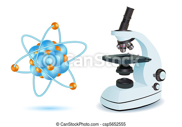 microscope with atom - csp5652555