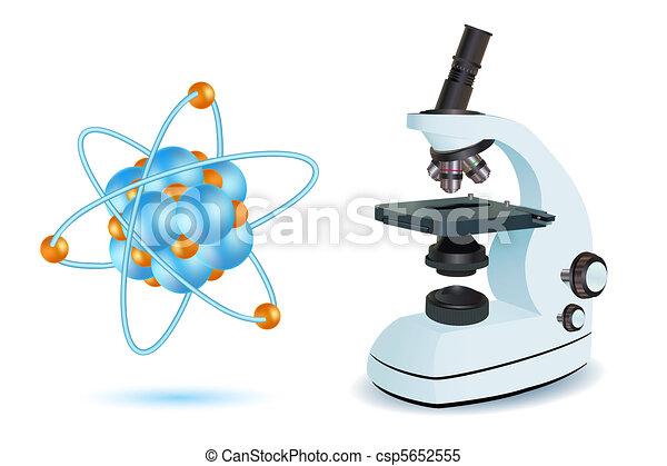 microscope with atom - csp5652555