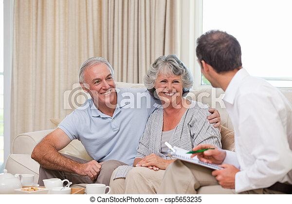 Seniors with assurance man - csp5653235