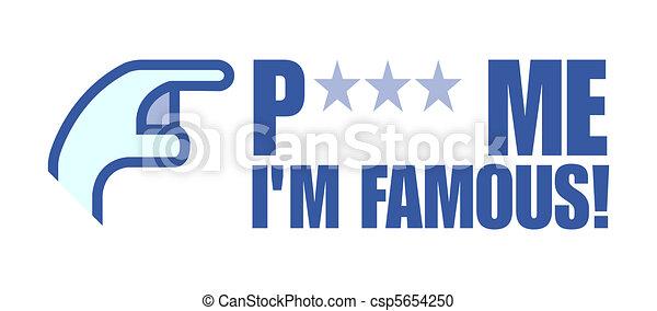 Poke me i'm famous - csp5654250
