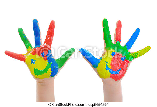 Hand Painted Child - csp5654294