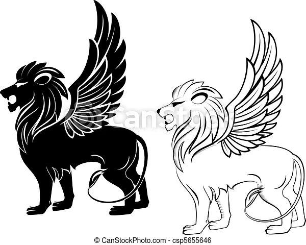 Heraldic lion - csp5655646