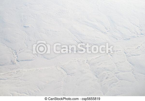 カナダ, 雪が多い, 凍らせられた, 島, 空気,  baffin, 川, 崖 - csp5655819