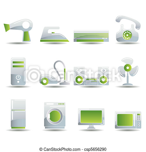 Electrical Appliances Icons Set - csp5656290