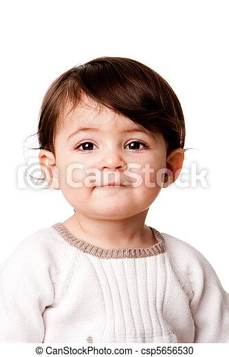 Cute baby toddler face - csp5656530