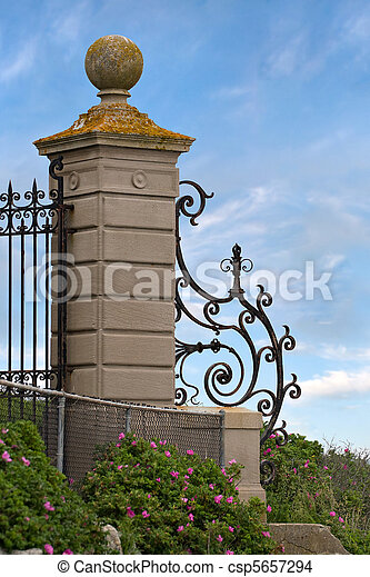 Fancy Wrought Iron Gate - csp5657294
