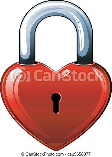 Heart lock - csp5658077