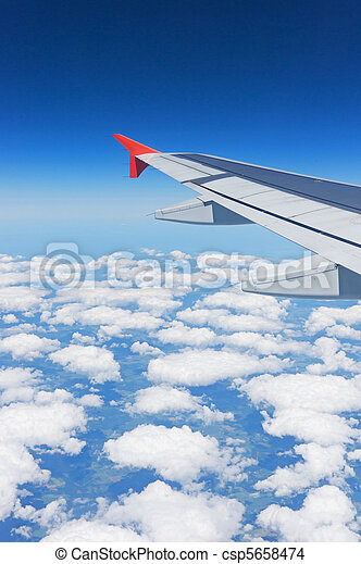 wing of the airplane - csp5658474