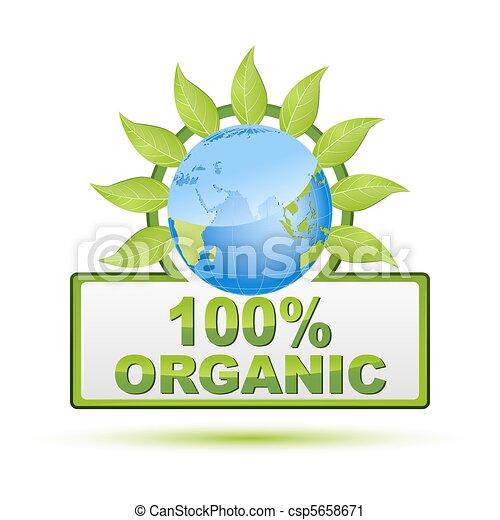 100% organic - csp5658671