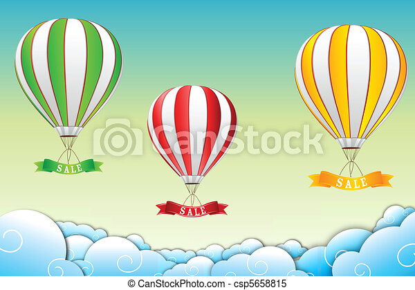 parachute with sale tag - csp5658815