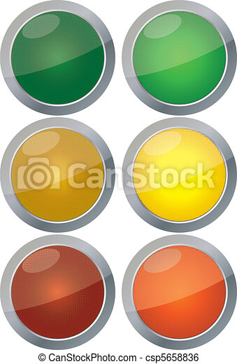 Traffic lights vector isolated on white background - csp5658836