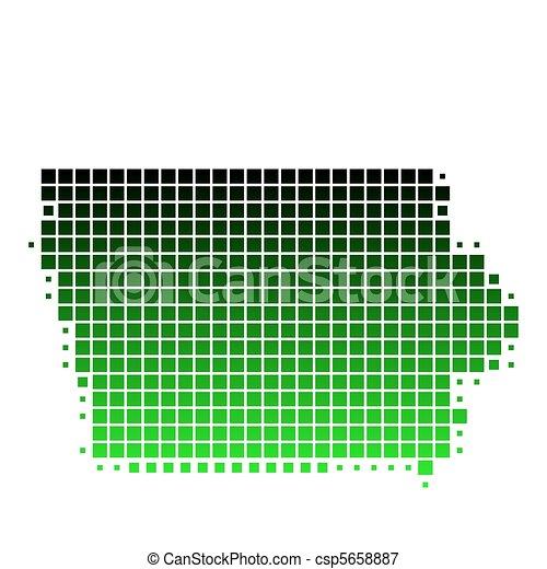 Map of Iowa - csp5658887