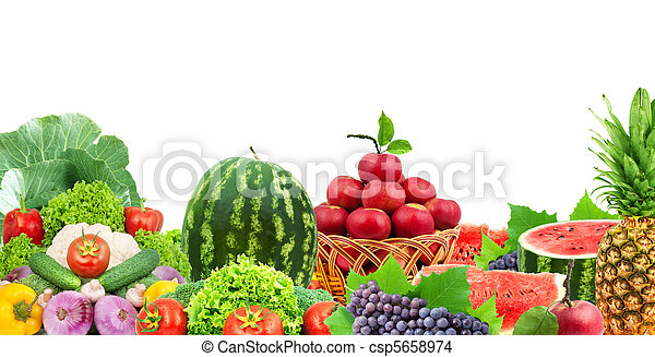 Fresh fruits and vegetables - csp5658974