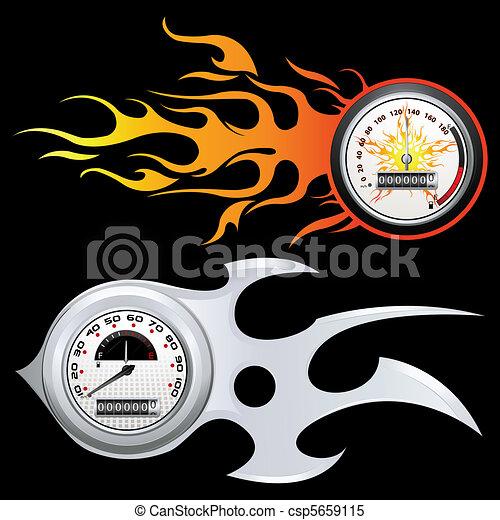 Fiery Speedometer - csp5659115