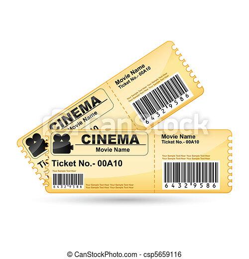Movie Ticket - csp5659116