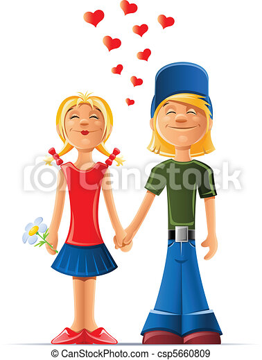 loving boy and girl - csp5660809