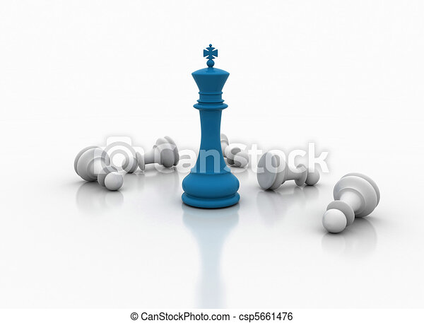 Chess king standing - game over  - csp5661476