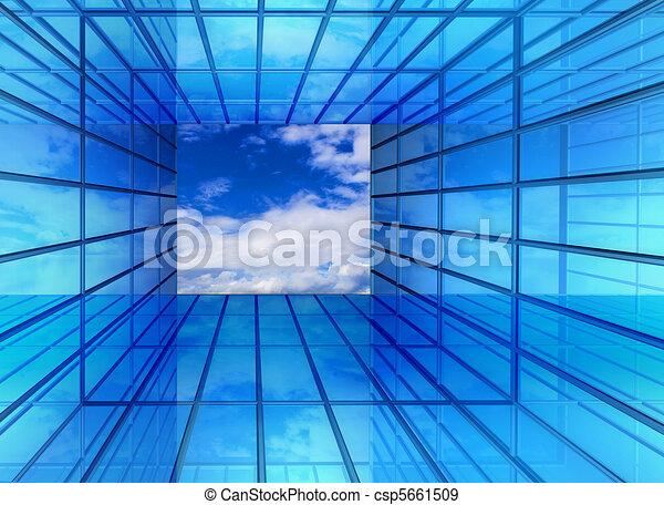 Hallway window to future - csp5661509
